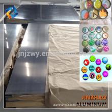 Plaque en aluminium laminé à chaud 8011 pour bouchon de bouteille