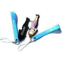 Pendentif pvc mobile pour promotion, cadeau, sac, téléphone mobile et vente en gros