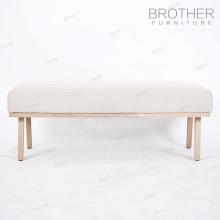 Adjustable super soft velvet cushion foot stool for bedroom