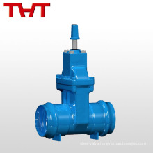 resilient seat automatic industrial double flap gate valve