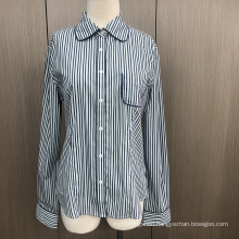 Female yarn dyed spandex long sleeve shirt