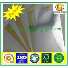 Papel de ouro de 350GSM metálico papel de folha de ouro brilhante
