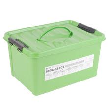 Solid Color Kunststoff Aufbewahrungsbox mit Griff (SLSN052)