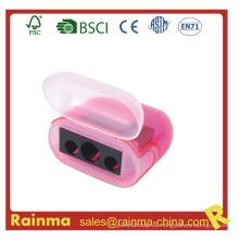 Pink Three Hole Sicherheit Bleistiftspitzer