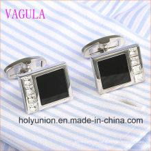VAGULA Designer Men French Shirt Onyx Gemelos de plata 336