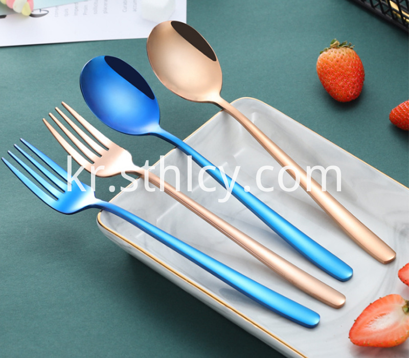 304 Color Stainless Steel Fork Spoon