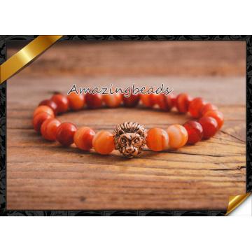 Браслеты красного агата высокого качества, браслет ювелирных изделий Carnelian для самых лучших друзей (CB062)