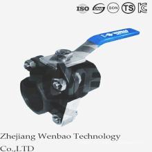 Válvula de bola de diámetro reducido de acero al carbono con perno de tornillo de 2 piezas