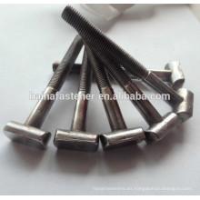 Medio hilo de acero en forma de T perno