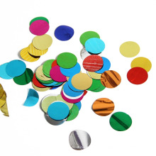 Confetti Mylar de forme ronde multicolore de 2,5 cm pour la fête de Noël