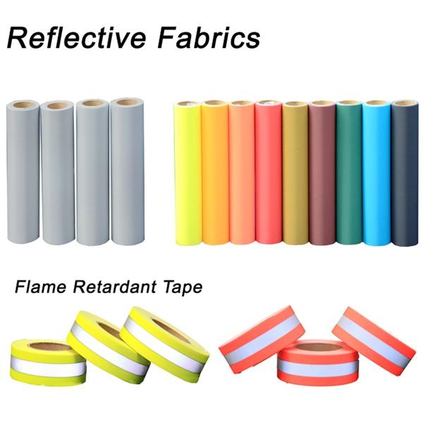 Fluorescent Yellow FR WarningReflective Fabric