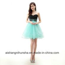 Frauen-reizvolle A-Linie ärmelloses rückenfreies kurzes Mini-Abschlussball-Kleid