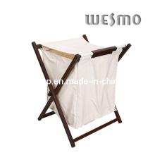 De madera de goma lavado accesorios de baño cesta (wwr0501b)