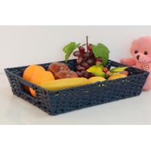 Cesta De Frutas Retangular De Plástico Rattan