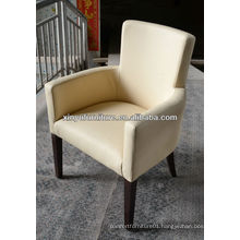 Yellow leather hotel coffee shop chair XY0846