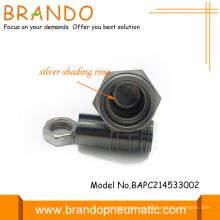 99.9% de plata sombreado anillo armadura solenoide