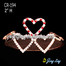Heart Shape Rhinestone Princess Pageant Tiaras