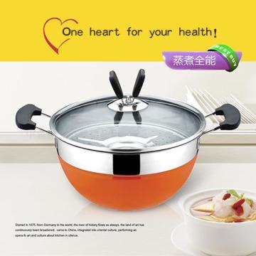 ChaoZhou inox panela de sopa colorida