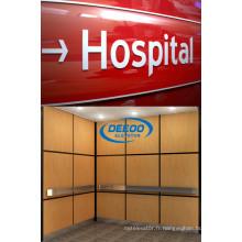 Ascenseur stable d'hôpital de passager de grande capacité courant