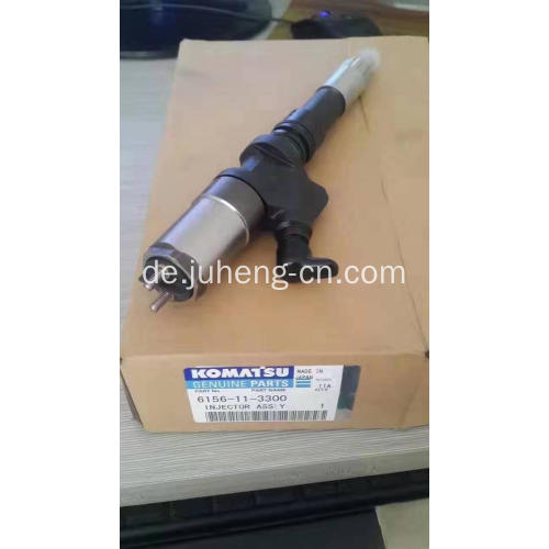 PC400-7 Common Rail Injector SA6D125E Motor 6156-11-3300