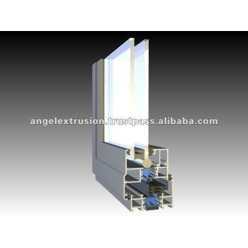 Perfil de aluminio para ventanas abatibles