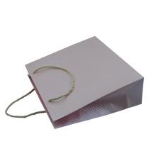Saco de papel rosa com padrão especial no atacado