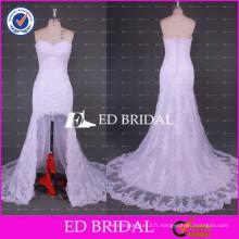 ED Bridal Nouvelle Collection Sweetheart Neck Short Front Long Back Lace Mermaid Robe de mariée