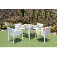 Design élégant Poly Rattan Ensemble de 4 chaises pour meubles en osier pour jardin extérieur