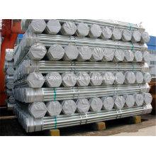 Tuyau en acier galvanisé pour la construction