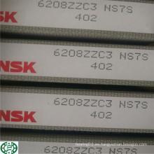 Rodamiento de bolitas profundo del surco de la marca de 6208zzc3 NSK Japón