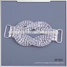 Moda rhinestone cristal fivela para biquíni e roupa de banho