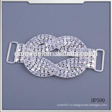 Мода кристалла горный хрусталь пряжки для бикини и купальники