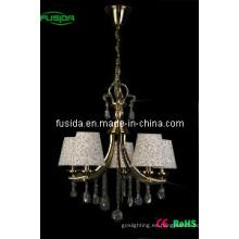Iluminación de tela de estilo europeo con cristal (D-8160)