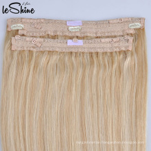 Original Raw Virgin Remy Brazilian In Human Halo Hair Extensions for White Women