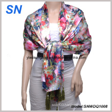 2013 Fashion Lady′s Satin Scarf 1008