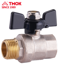 Good price FxM thread Butterfly handle brass valve Dn25