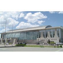 Construction énorme de piscine avec la structure en acier de cadre d'espace