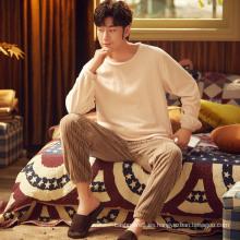 Traje de pijama de franela para hombre para hombre