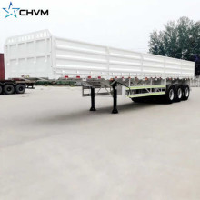 3Axles 80tons Grid Position نصف مقطورة