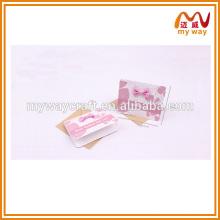 Cartão de adorno de bowknot rosa, o design exclusivo para cartão de amor artesanal