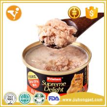 Gata de comida enlatada de comida de gato popular Wet pet treat supplier
