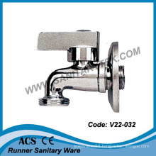 Chrome Bibcock Tap with Rosette (V20-032)