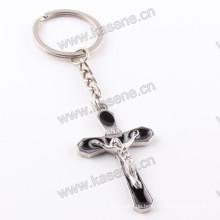 Neue handgemachte Produkte Schwarzer Emaille-Rosenkranz Keychain Religiöses Handwerk