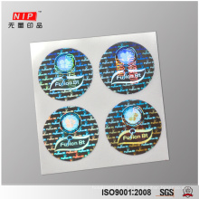 Autocollants de sceau de sécurité holographique 3D personnalisé