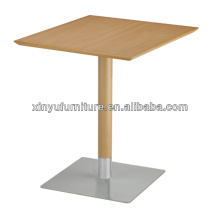 Square bar table with stainless steel base XT7018