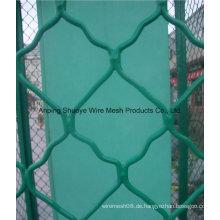 2016 hohe Qualität verzinktem Kettenglied Zaun / PVC beschichtet verwendet Maschendrahtzaun für Verkauf