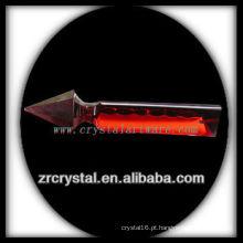 K9 pingente de candelabro de cristal vermelho original