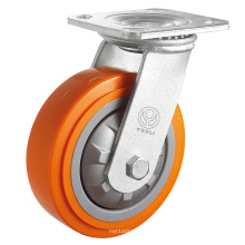 Roulette robuste en PP (orange)