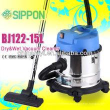 Aspirador de limpieza de piso de barril de acero inoxidable / máquina de vacío húmedo y seco