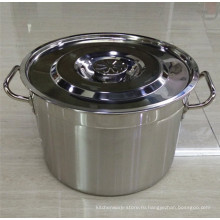 Ведро супа нержавеющей стали 30Q / 60cm низкое MOQ / американский тип бочонок супа